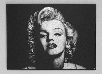 Мэрилин Монро Изображение вручную гравированный на противень