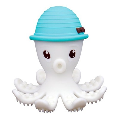 Mombella Teether Hračka Octopus Powderblue