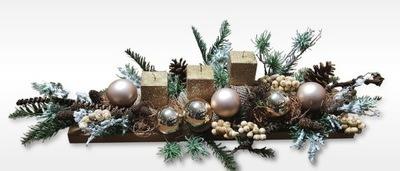 Stroik świąteczny dekoracja stół Boże Narodzenie