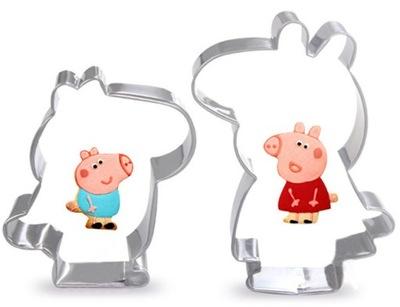нож ПРЕССФОРМА для ПЕЧЕНЬЕ Peppa Pig 2ШТ