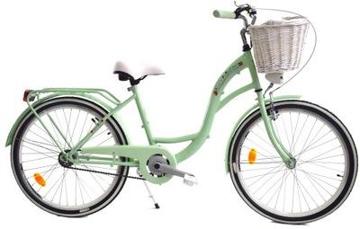 Rower 24 miejski dla dziewczynki na komunię różowy