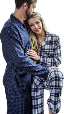 1f86757de1692e KEY piżama męska flanela MNS 461 B8 długi rękaw M - 7525118376 ...