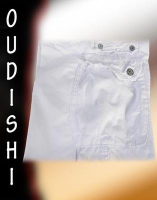 OUDISHI #890- szorty bojówki- BIAŁE- rozmiar r29 *