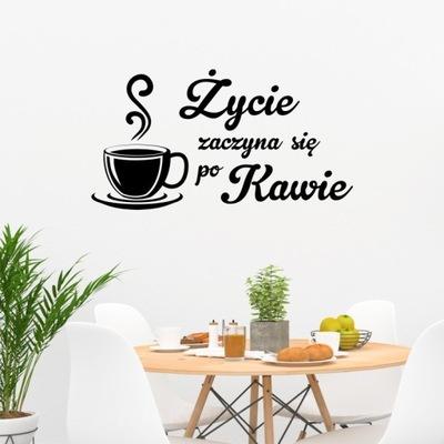 Naklejka Kawa - Życie zaczyna się po Kawie 24x45