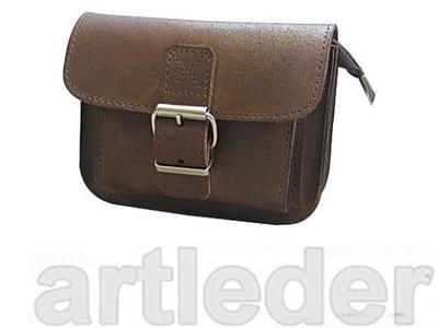 c79171cfb0fd3 saszetka portfel na pasek SKÓRZANA RETRO POLSKI - 7456607428 ...