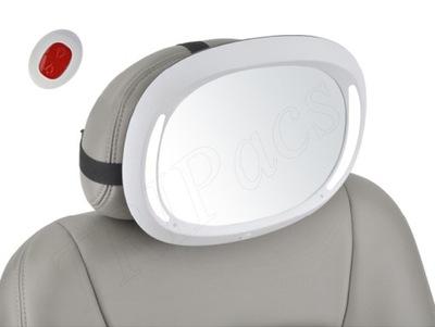 Zrkadlo Na pozorovanie Dieťaťa v Aute LED diaľkové ovládanie