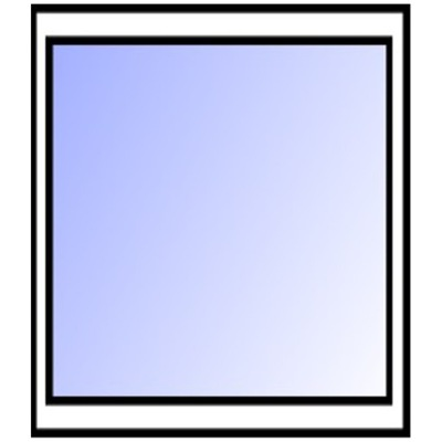 Окно белое ??? витрина fix 1200x1200mm теплые