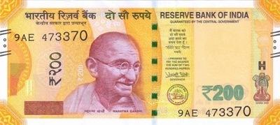 Индия 200 рупий Сарнатх Музей 2017 P-110a