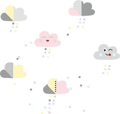 Ozdoby pastelovo žlté ružové mätové mraky