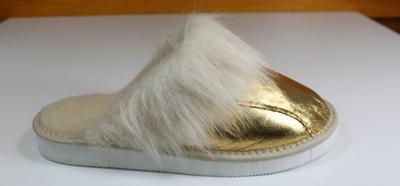 86b6b6cea68f7 Pantofle skórzane męskie pm-033 brąz 40 7412464081 - Allegro.pl