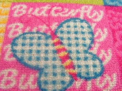 Dekorácia do detskej izby - SUPER Detský koberec 130x270 BUTTERFLY PROMOTION