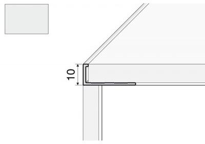 Планка лапка A51 - 200см/10 Алюминий