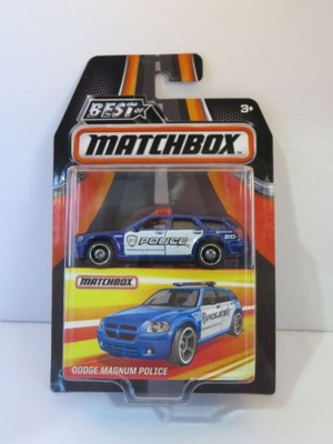 Matchbox 1 : ?????????? четыре Best of 2017 - Dodge Magnum Police