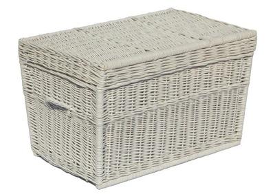 плетеный сундук коробка плетеная Корзина 100 см Белый