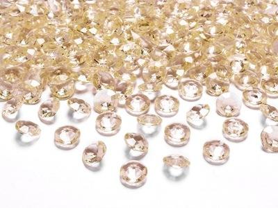 KONFETTI DIAMENTOWE NA STÓŁ złote 12mm