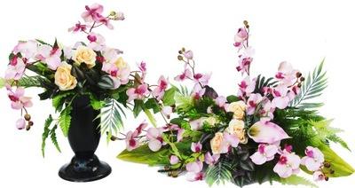 VEĽKÉ kytice KYTICE a headpiece na cintorín, hrob