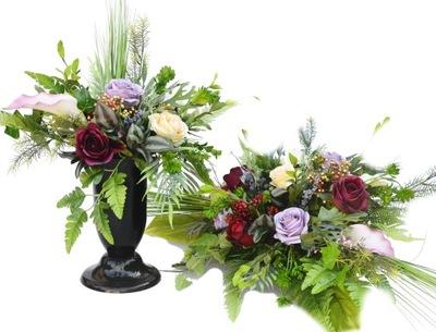 VEĽKÉ Kytice a kvety na cintorín, hrob je NAŽIVE!