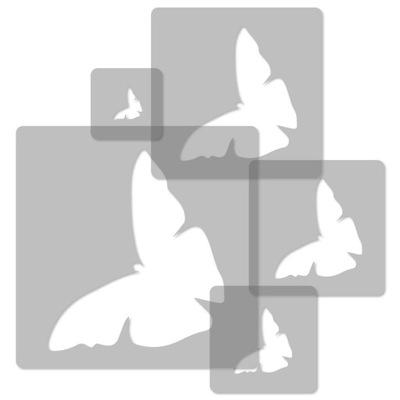 шаблоны малярные МНОГОРАЗОВЫЕ 5 штук . / бабочки #2