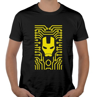 Koszulka IRON MASK tshirt z nadrukiem iron man XL