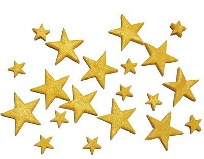 звезды сахарные Золотые Блестящие НА ТОРТ КЕКСЫ