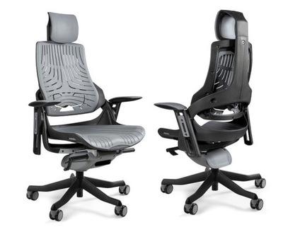 55373570521b4b Fotel gabinetowy ergonomiczny Wau CZARNY elastomer 7387930099 ...