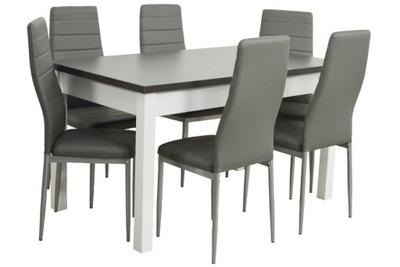 БЕЛО Серый комплект стол 180 6 стульев с ekoskóry