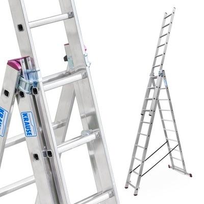 Лестница алюминиевая 3x10 Краузе CORDA выс.роб. 7 ,0м