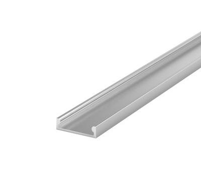 Алюминиевый профиль плоский для лент LED 2м С АБАЖУРОМ