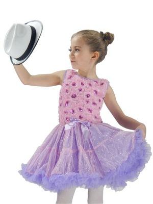 sukienka taniec sesja SK933 PURPLE ROSE  10 lat +
