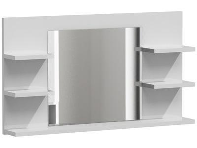 зеркало 5 ПОЛОК для ВАННЫЕ комнаты LUMO L5 белый блеск