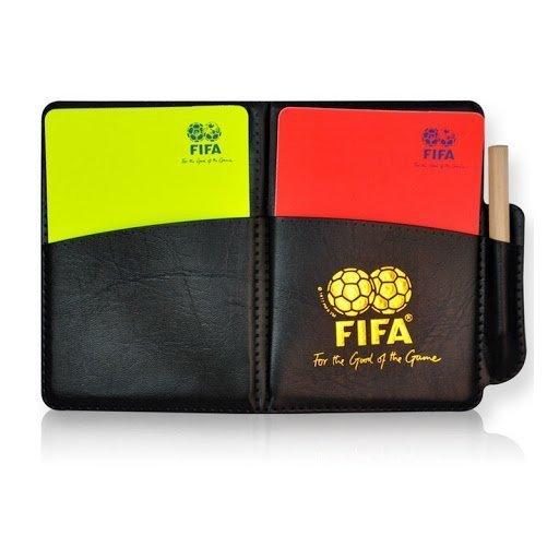 FIFA Kartki sędziowskie + Notatnik w Etui + ołówek