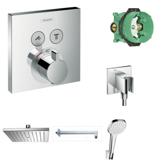 Hansgrohe Prysznic Podtynkowy Termostatyczny Krakó 6756088892