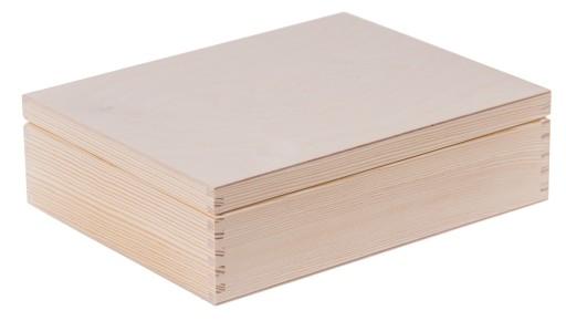 PUDEŁKO na herbatę 12 DECOUPAGE prezent drewno EKO