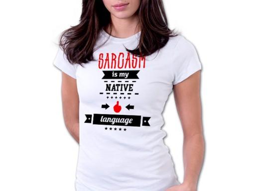 Damska koszulka ŚMIESZNE NAPISY PREZENT S