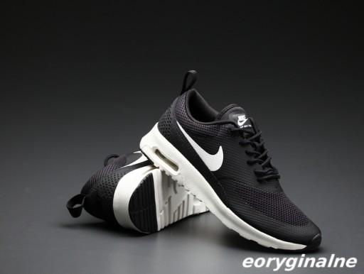 Nike air max thea czarne klasyczne piękno dla niej Zdjęcie