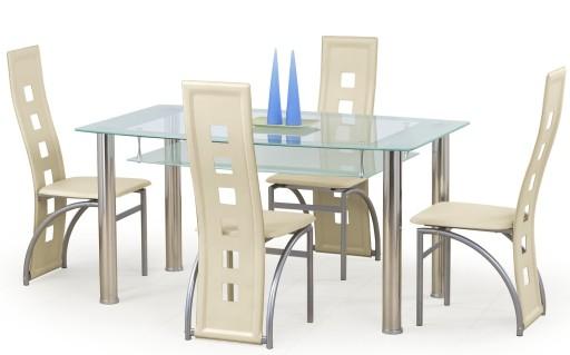 stoły i krzesła kuchenne szklane