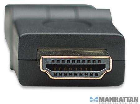 MANHATTAN 322355 Adapter HDMI wtyczka kątowa z/m