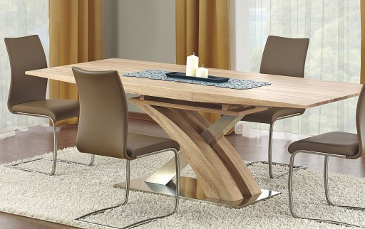 Duży Stół Rozkładany Nowoczesny 220x90 Dąb Sonoma 7149665638