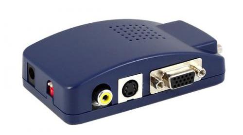 Konwerter Video VGA D-SUB - S-Video Composite EURO
