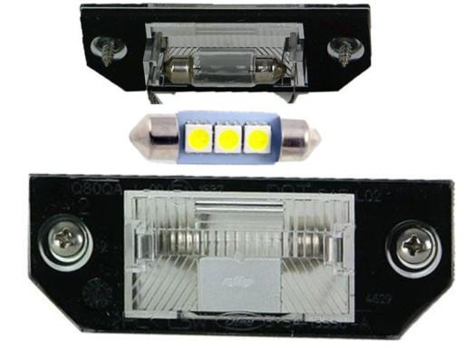 APSVIETIMAS NUMERIU ZIBINTAS (LEMPUTE) LED FORD FOCUS C-MAX