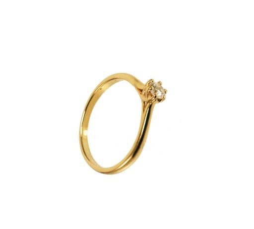 Pierścionek Zaręczynowy Z Brylantem 020 Ct 50 7298045326 Allegropl