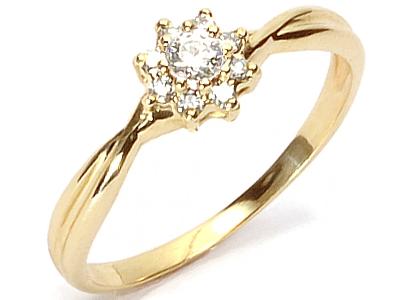 Złoty 585 Pierścionek Zaręczynowy Z Brylant023ct 5941064008