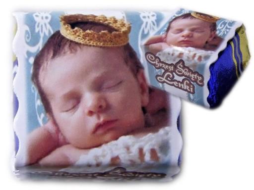 Foto Czekoladki ze zdjęciem podziękowania chrzest