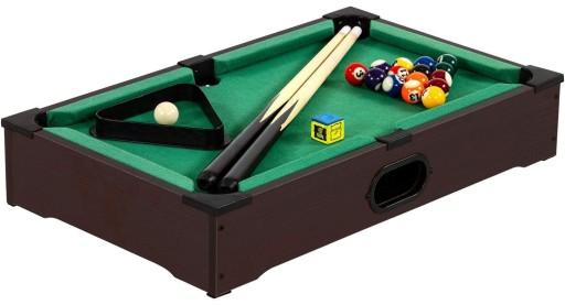 Brązowy Mini Stół Bilardowy Pool Bilard Akcesoria