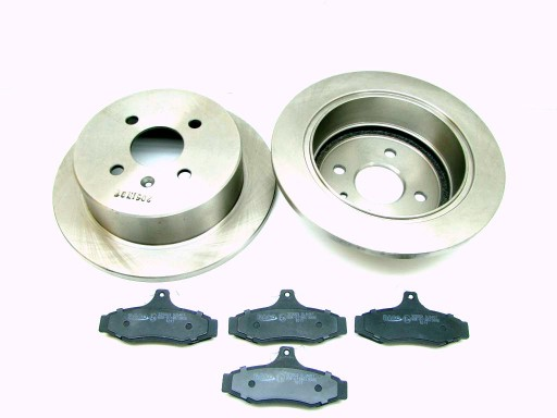 =DRIVES + PADS DAEWOO NUBIRA I II REAR 258x10mm=