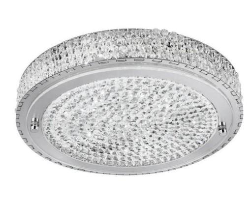Plafon Kryształowy Led 20w łazienki Salonu Chrom