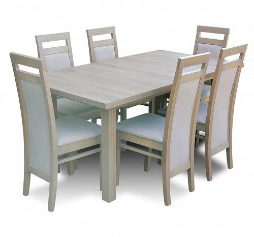 Stół 140180 80 Z Krzesłami Dąb Truflowy Nowość 6507004922