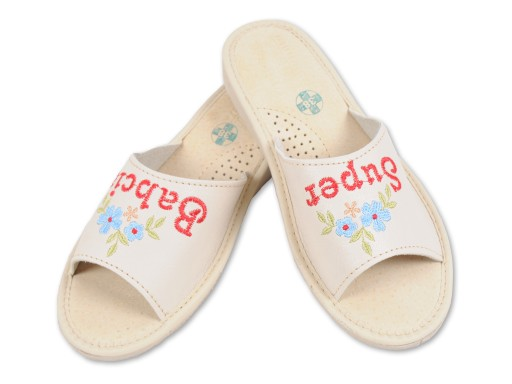 Pantofle Super Babcia prezent na DZIEŃ BABCI nr 35
