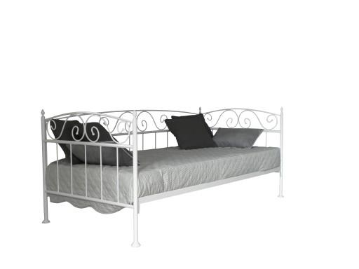 łóżko Metalowe Sofa Karo Ii 140 Biała Czarna