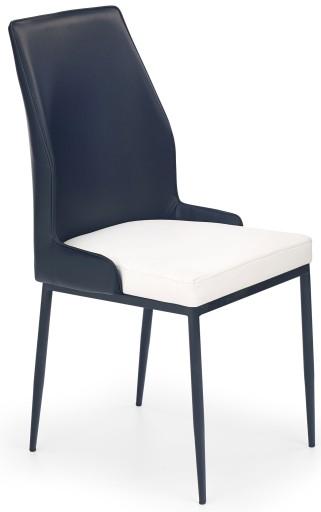 Nowoczesne Krzesło Metalowe Czarne Salonu Białe 5889876011
